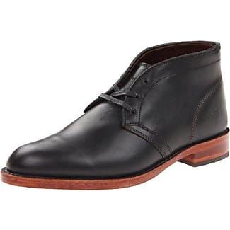 Frank Wright Fry - Zapatos de cordones de cuero para hombre, color negro, talla 45 (11 UK)