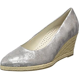 Fashion, Zapatos de Tacón para Mujer, Gris (Grau/Silber 69), 40 EU Gabor