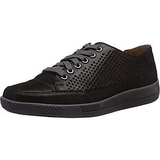Ganter Giulietta, Weite G - Femme Sneaker Velours, Couleur Noire, Taille 40.5