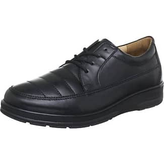 Le Inge De Ganter, Weite I - Chaussures En Cuir Avec Lacets Femme, Couleur Noire, Taille 38,5