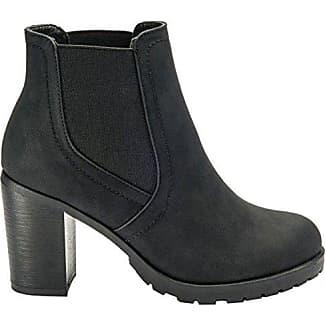 Generic , Damen Chelsea Boots , schwarz - schwarz - Größe: 36.5