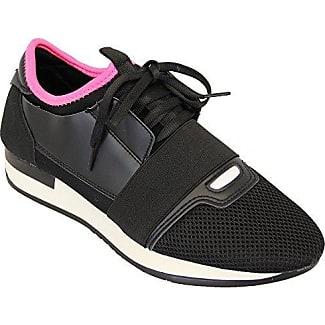 Damen Mode Damen Schnürer Turnschuhe Flache Schuhe Sneakers Fitnessstudio Pumps - Marine, EU 37