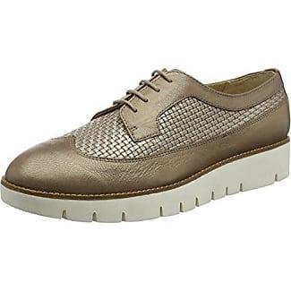 D Blenda a, Zapatos de Cordones Derby para Mujer, Plateado (SILVERC1007), 39 EU Geox