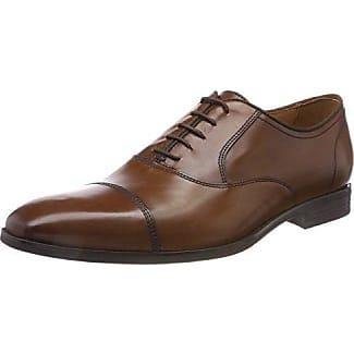 Geox U New Life a, Zapatos de Cordones Oxford para Hombre, Marrón (Cognac), 44 EU