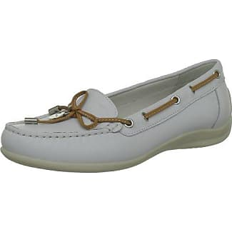 Siouxbabs-161 - Femme Mocassins, Blanc, Taille 37.5