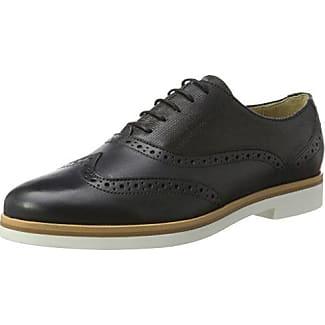 Geox D Marlyna C, Oxford Chaussures À Lacets Pour Les Femmes, Noir (noir), 39 Eu