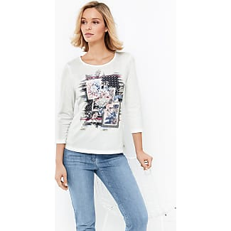 3/4-sleeve top with a front print, organic cotton ecru-beige female Gerry Weber