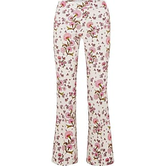 Shopping Online Free Shipping Fake Cheap Price Floral-print Crepe Flared Pants - Ivory Giambattista Valli Affordable For Sale Clearance Online Amazon Bgdwthesl