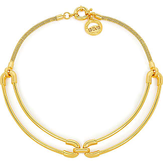 Giles & Brother Cortina Double Link Collar Gold Plated mRjBXX