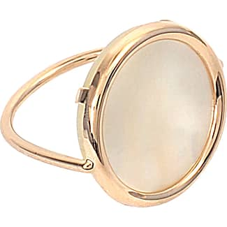 Ginette NY Mother of Pearl 18-karat rose gold Disc ring h26ByVb34o