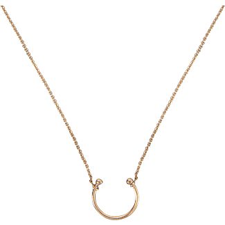 Ginette NY Tanger open 18-karat rose gold necklace ZOwDawn