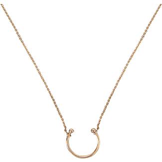 Ginette NY Tanger open 18-karat rose gold necklace AP6OaFmr