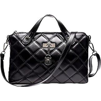Damen Handtasche Paket Kleine Quadratische Tasche Kuriertasche Schultertasche Tasche,Black-OneSize GKKXUE
