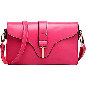 Mode Handtaschen Umhängetasche Handtasche Messenger Bag Mini Einfache Freizeit Atmosphäre,Pink-OneSize GKKXUE