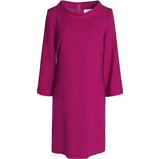 Goat Woman Floral-print Crepe Mini Dress Burgundy Size 12 Goat 7rx1Awaouu