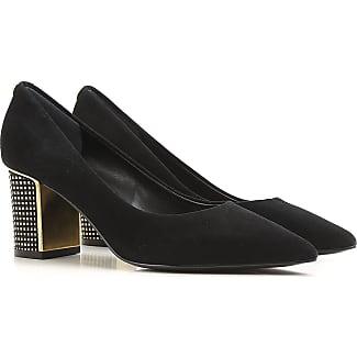 Zapatos de Tacón de Salón Baratos en Rebajas, Negro, Gamuza, 2017, 37 37.5 38.5 39.5 Prada