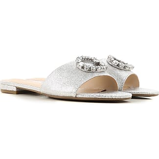Sandals for Women On Sale, Cream, Leather, 2017, 4.5 6.5 8.5 Guess