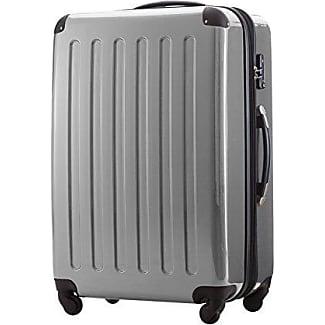 119 Liter Hartschalen Koffer · (75 x 52 x 32 cm) · Hochglanz · Zahlenschloss · MOCCA BRAUN HAUPTSTADTKOFFER CALI0qO