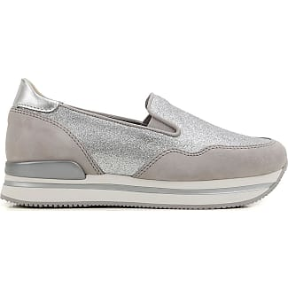 Slip on Sneakers for Women On Sale in Outlet, Silver, suede, 2017, US 9 (EU 39) Hogan