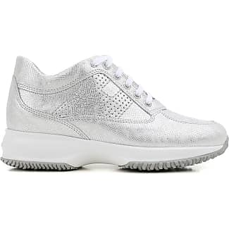 Sneakers for Women On Sale, Silver, Metallic Leather, 2017, 4 Hogan