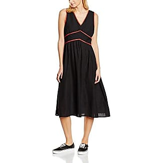 Hot Squash Capped Sleeve Fit N Flare - Vestido sin mangas para mujer, color negro (Black), 36 (Talla del fabricante: 8)