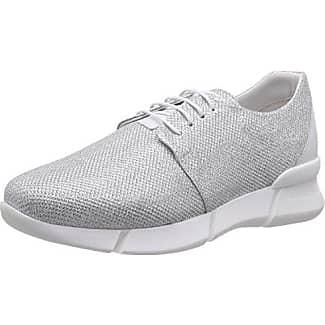 6068 - Zapatillas Mujer, Plateado - Silber (Silver-White), EU 38 Inuovo
