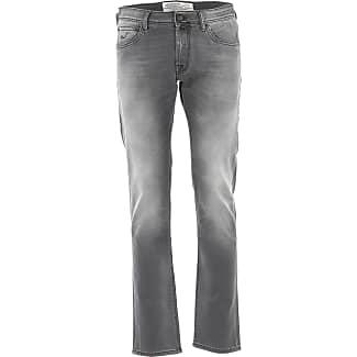 Pants for Men On Sale, Dark Anthracite Grey, Cotton, 2017, US 32 - EU 48 US 34 - EU 50 US 35 - EU 51 Jacob Cohen