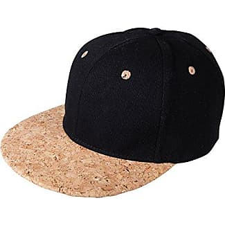 6 Panel Cork Flat Peak Baseball Cap, Mehrfarbig (Black/Natural), One Size James & Nicholson