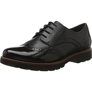 Jana 23704, Zapatos de Cordones Oxford para Mujer, Negro (Blk Met.Pat.), 42 EU