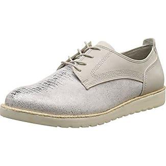 Jana 23706, Zapatillas para Mujer, Blanco (White/Silver), 40 EU