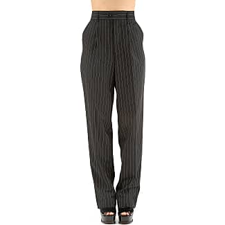 Pants for Women On Sale, Black, Virgin wool, 2017, 26 Jean Paul Gaultier