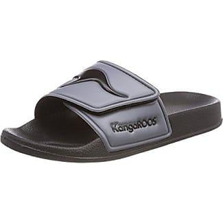 KangaROOS Unisex-Erwachsene K-Bath V Slipper, Schwarz (Jet Black/Steel Grey), 41 EU