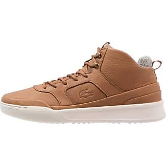 Chaussures De Sport Lacoste Haut Brun Foncé / Blanc HlajvnO