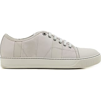 Sneakers for Men On Sale, Stone Grey, Embossed Leather, 2017, 5 Lanvin