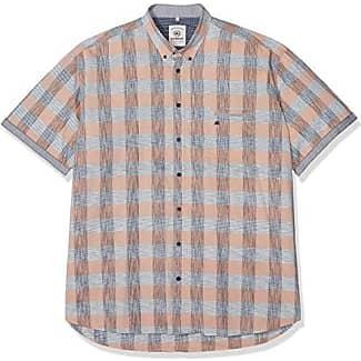 Große Größen Hemt Große Größen, Camisa para Hombre, Orange (Canyon Sunset 907), XXXL Lerros