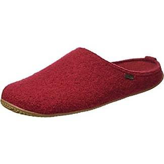 Walkpantoffel mit Fußbett Hohe Salve, Chaussons Mules Femme - Rouge - Rot (Rubin)Living Kitzbühel
