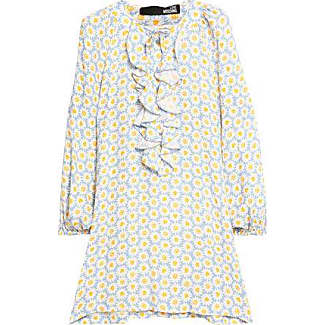 Love Moschino Woman Ruffled Floral-print Chiffon Blouse Light Blue Size 38 Love Moschino Cheap Sale Best Seller OTJVmJYt