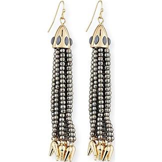 Lulu Frost Beaded Black Tassel Drop Earrings cm8aX0