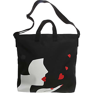 Sac Fourre-tout Lulu Guinness, Noir, Polyester, 2017, Une Taille,