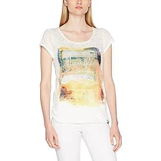 M.O.D SU17-TS247, Camiseta para Mujer, Blanco (White Allover 1838), L