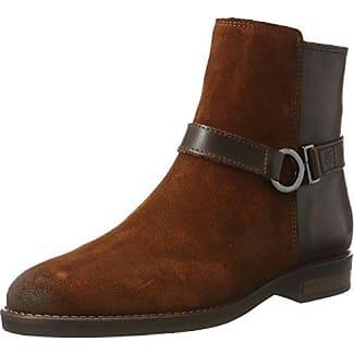 Marc O'Polo Mid Heel Bootie 70814216101304, Botas Plisadas para Mujer, Marrón (Taupe), 40 EU