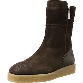 Marc O'Polo Mid Heel Bootie 70814216101304, Botas Plisadas para Mujer, Marrón (Taupe), 39 EU
