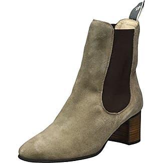 Marc O'Polo Flat Heel 70814225002124, Chelsea Boots Femme, Marron (Brandy), 41 EU