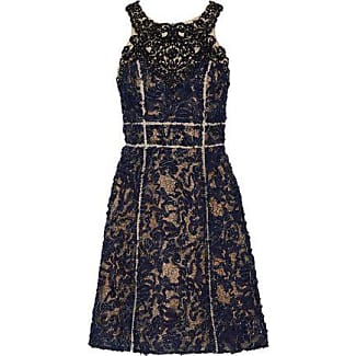Marchesa Notte Woman Ruffled Appliquéd Stretch-cady Dress Indigo Size 6 Marchesa Sale Low Price Fee Shipping 2018 Cheap Discount hQqNQY8NFR