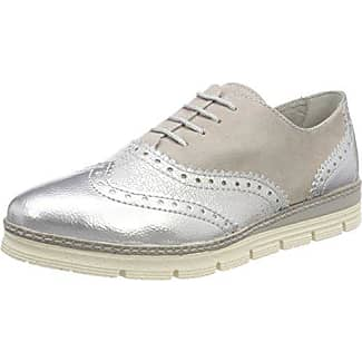 Marco Tozzi 23705, Zapatos de Cordones Brogue para Mujer, Azul (Denim Pat.Com.), 39 EU