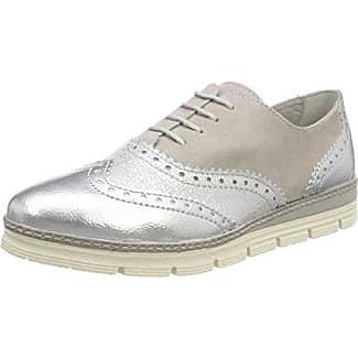Marco Tozzi 23705, Zapatos de Cordones Brogue para Mujer, Plateado (Silver Comb), 39 EU