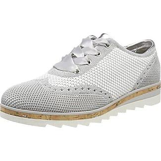 Marco Tozzi 23705, Zapatos de Cordones Brogue para Mujer, Azul (Denim Pat.Com.), 37 EU