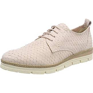 23726, Zapatos de Cordones Brogue para Mujer, Rosa (Rose Met. Comb), 39 EU Marco Tozzi