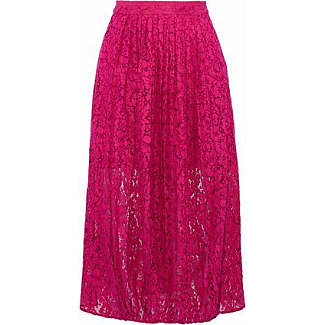 Markus Lupfer Woman Pleated Cotton-blend Lace Midi Skirt Pink Size XS Markus Lupfer Discount Shop Free Shipping Extremely Outlet Clearance Discounts Online Sale In China 2Y67C