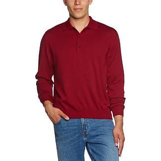 Jersey con cuello redondo de manga larga para hombre, talla 43, color rojo 440 Maerz